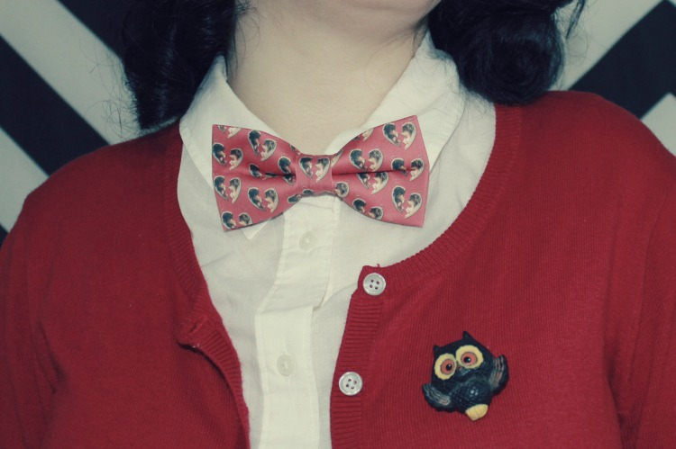 A Vintage Nerd Twin Peaks Fashion Vintage Fashion Blogger Retro Fashion Bowties Pop Culture