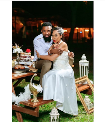Former BBN Housemate Tboss Issa Stunning Bride