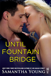 romance novel cover, new adult romance, until fountain bridge by samantha young