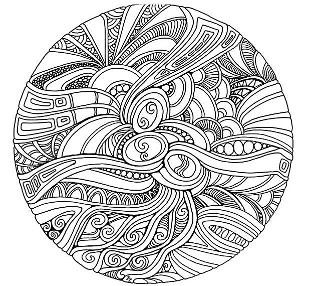 Coloring für Erwachsene - Farben für Erwachsene | Free Mandala Download