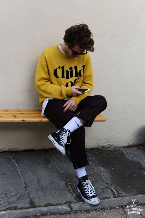 look masculino com meia alta