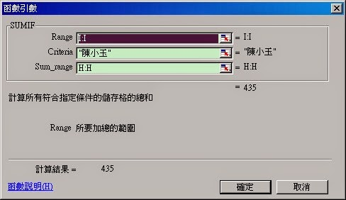 EXCEL 函數SUMIF 依條件加總儲存格 @ 羊家的美好日子 :: 痞客邦
