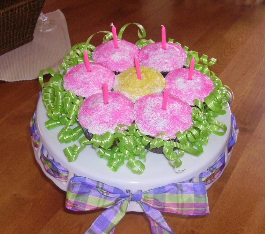 Party Cakes: Flower Pull-Apart Cake/Cupcakes