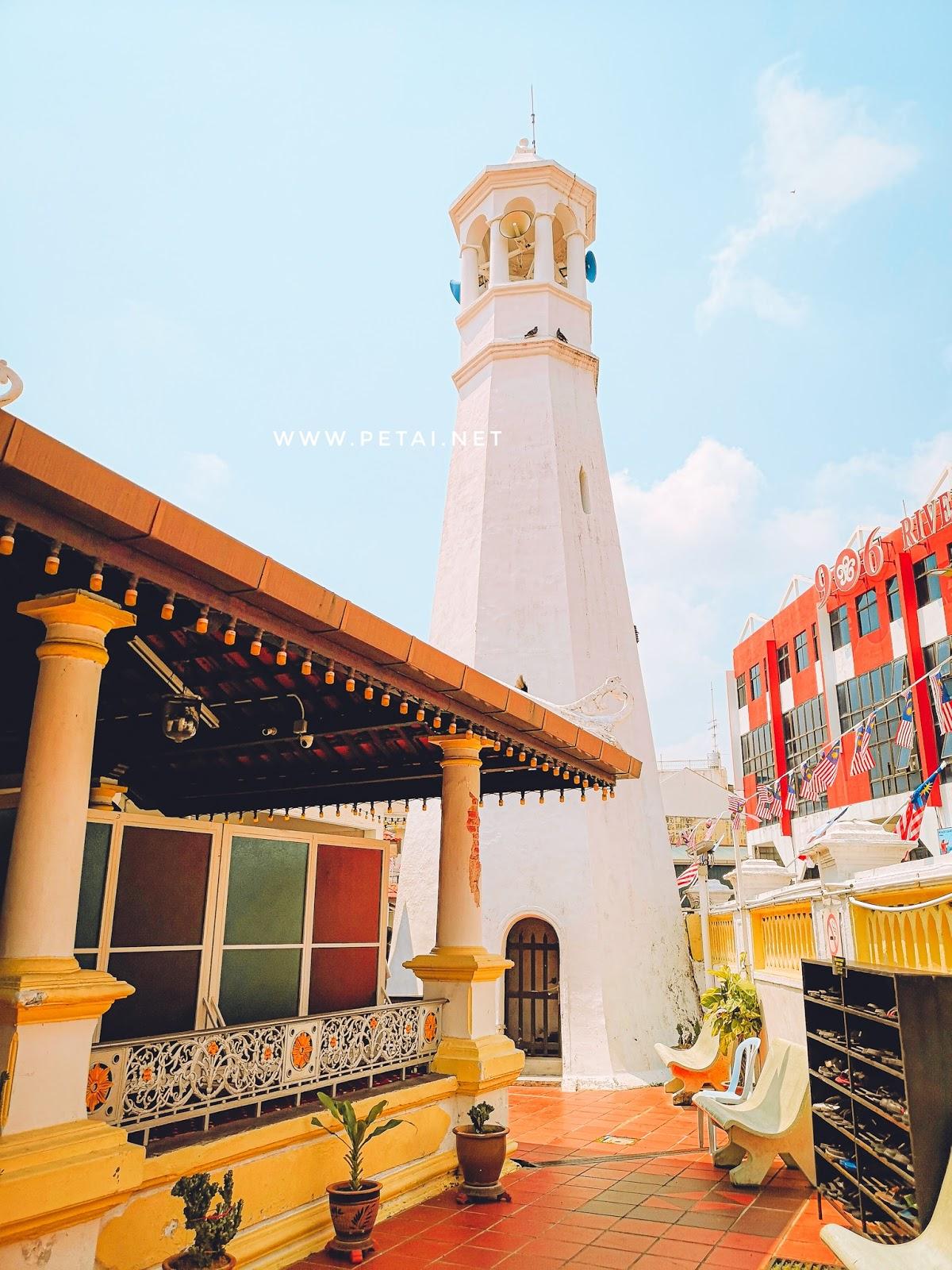 Masjid Kampung Hulu, Melaka - menara
