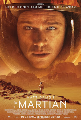 UK poster of The Martian movie