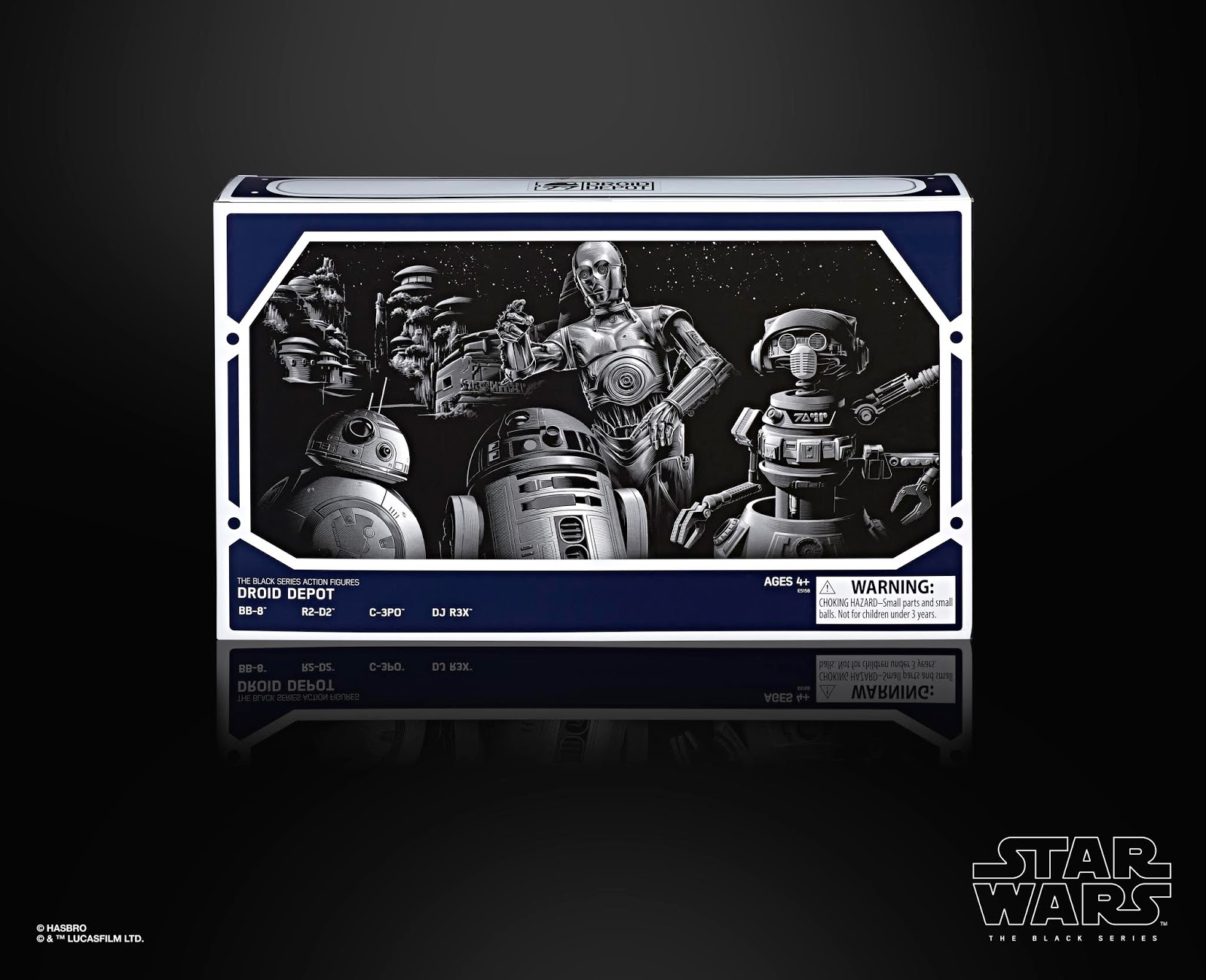 STAR WARS THE BLACK SERIES 6-INCH DROID DEPOT 4-PACK
