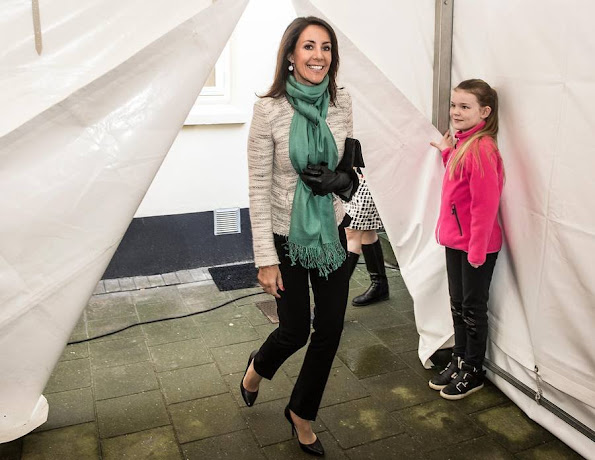 """Princess Marie of Denmark attended the opening of a new """"Wefood"""" supermarket in Copenhagen. The purpose of DanChurchAid """"Wefood"""" supermarkets is to prevent food wastage"""