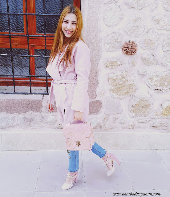 pudra topuklu ayakkabılar