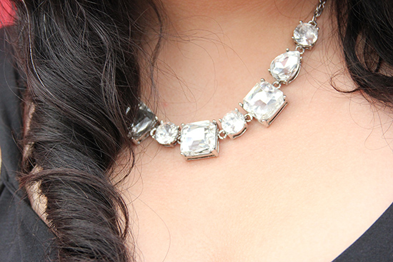 Express Faux Diamond Statement Necklace