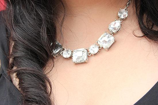 Express Faux Diamond Statement Necklace