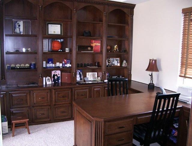 best custom wooden home office desk built in online