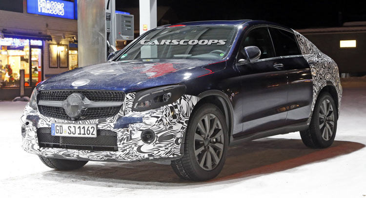 mercedes benz glc 450 coupe spotted for first time page 2 mercedes glc forum. Black Bedroom Furniture Sets. Home Design Ideas