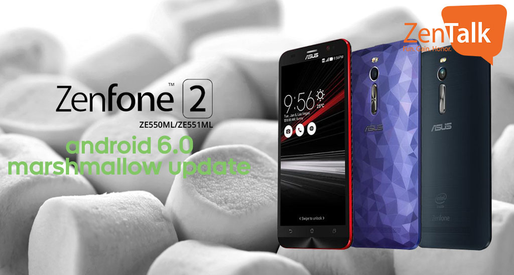 ASUS Zenfone 2 Android 6 Marshmallow upgrade - update