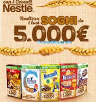 Logo Concorso ''Realizza i tuoi sogni da 5.000€'' con i Cereali Nestlé