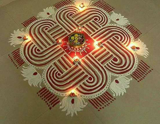 30 Best Diwali Rangoli Designpatterns 2018 With Pictures