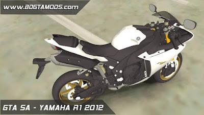 YAMAHA R1 2012 para GTA San Andreas 4