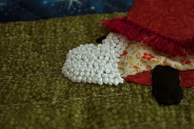 Tríptico Navidad. Aplicaciones patchwork