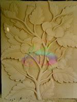 Relief batu alam bunga sepatu