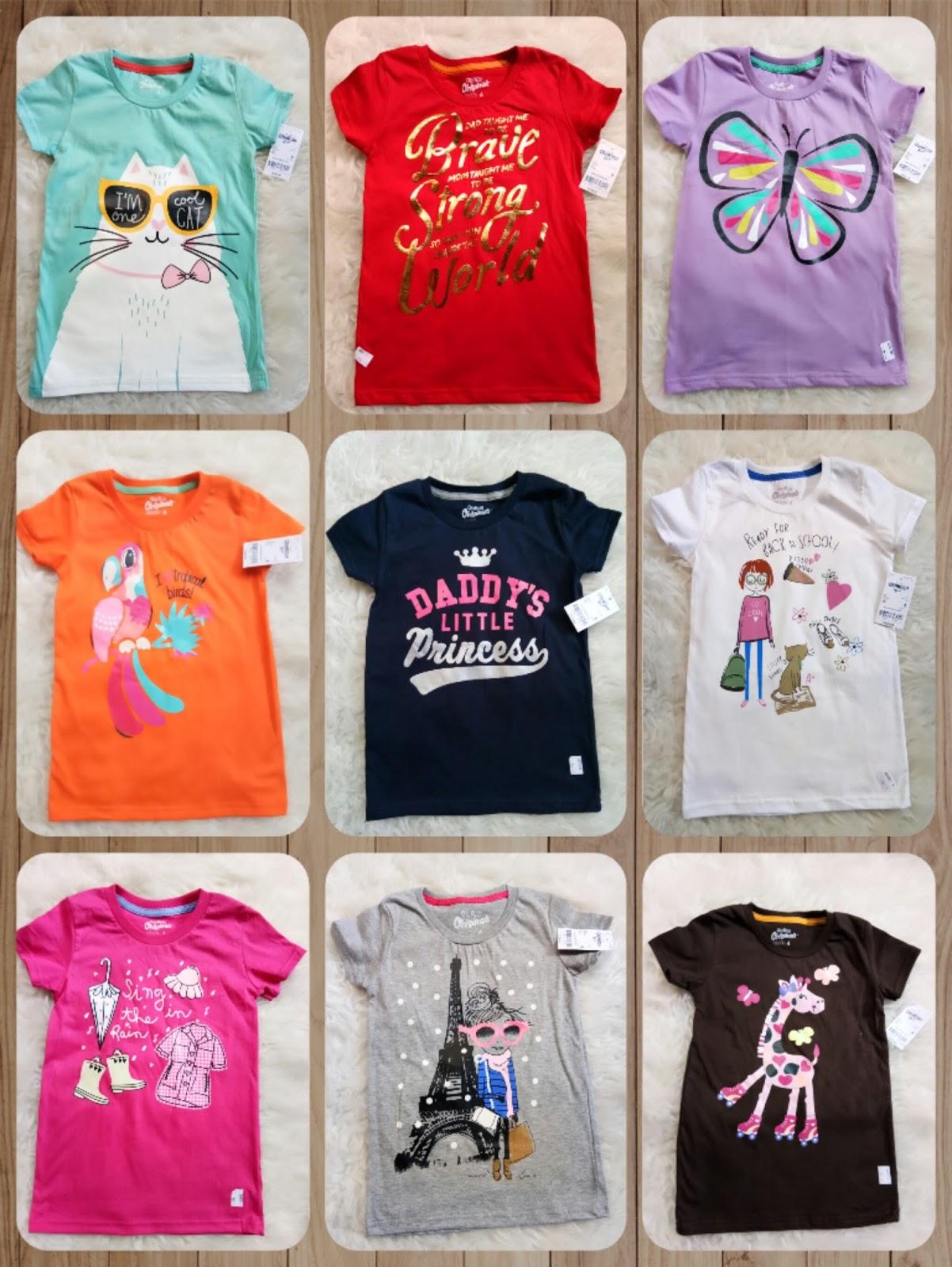 Baju Anak Branded Stok Ekspor  Kaos Anak Cewe Oshkosh 213de34a13