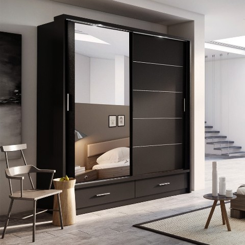 20 Fascinating Sliding Doors Wardrobe Designs For Master Bedroom