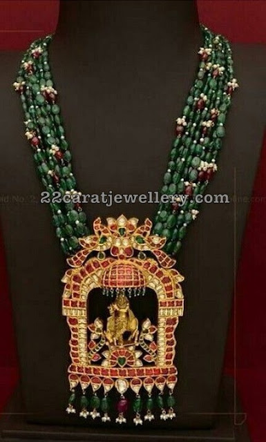 Emerald Drops Set with Pendant by Mangatrai