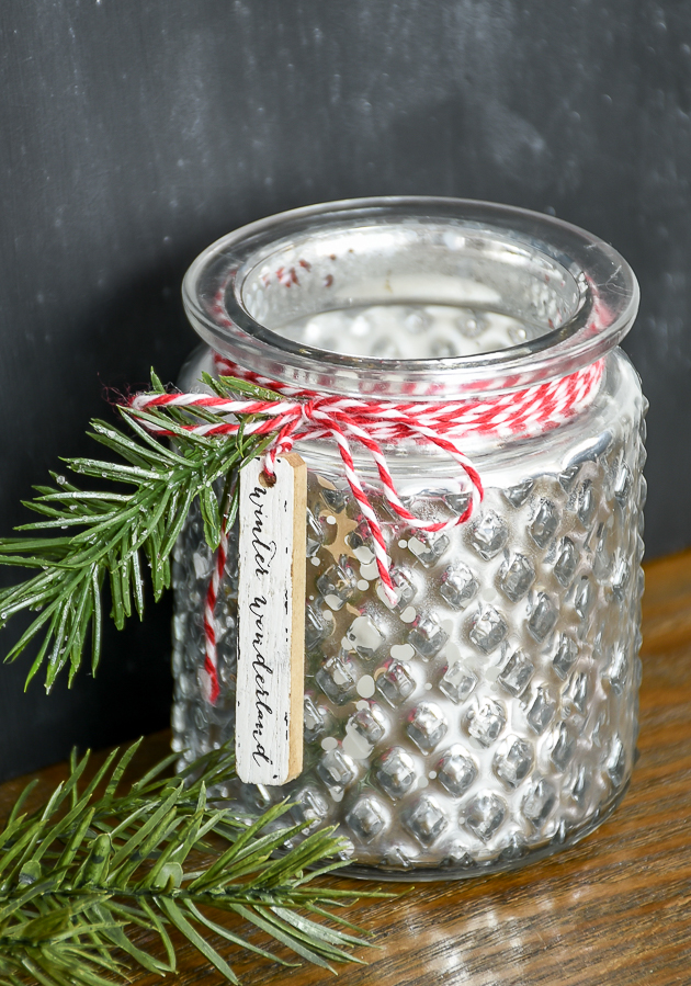Easy Dollar Tree Christmas votive holders