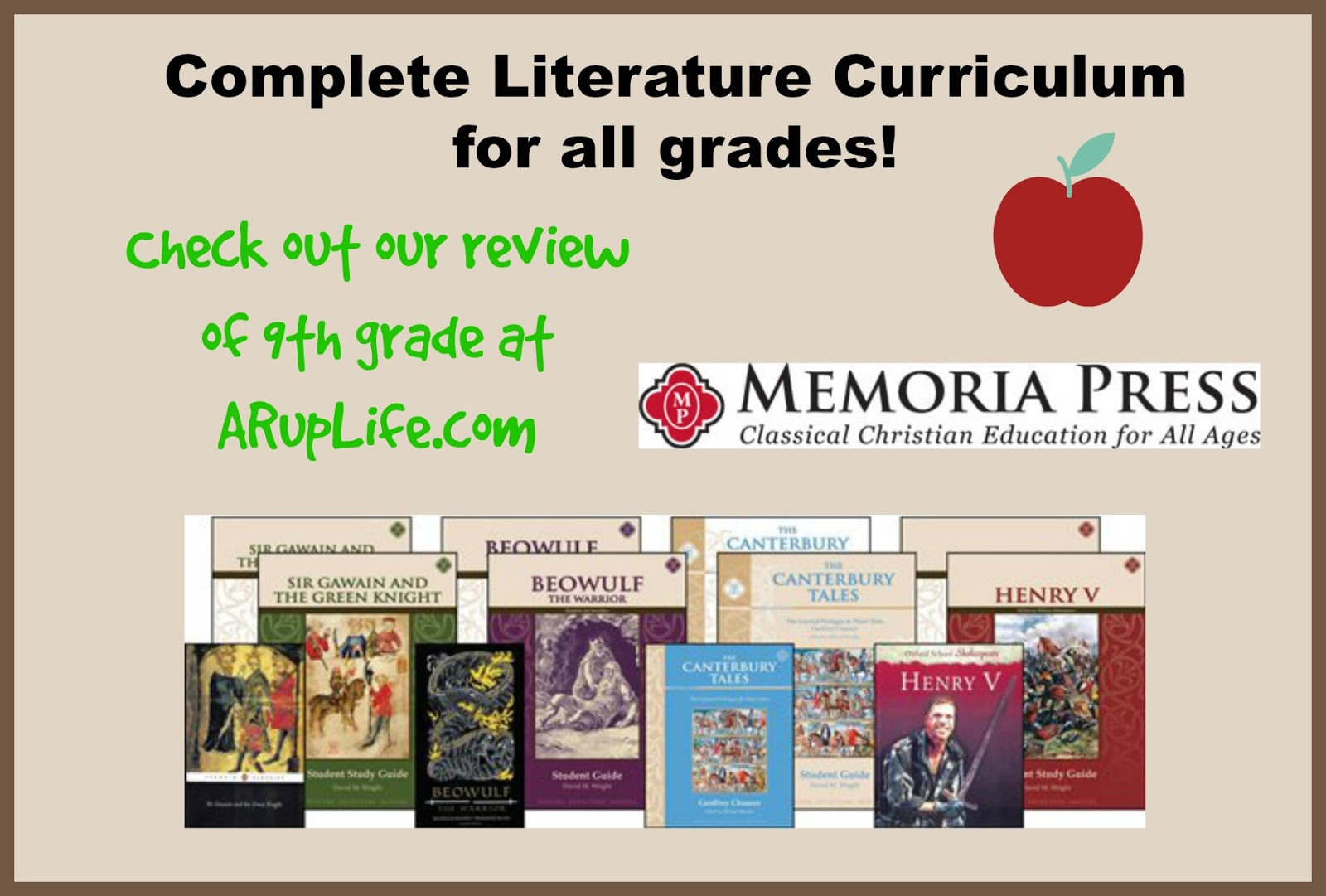 A Rup Life Memoria Press 9th Grade Literature Review