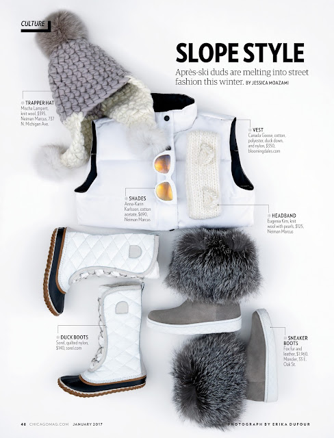 CHICAGO MAGAZINE, Slope Style by Jessica Moazami