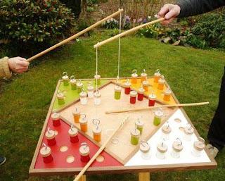 Juegos de madera para niños de pescar