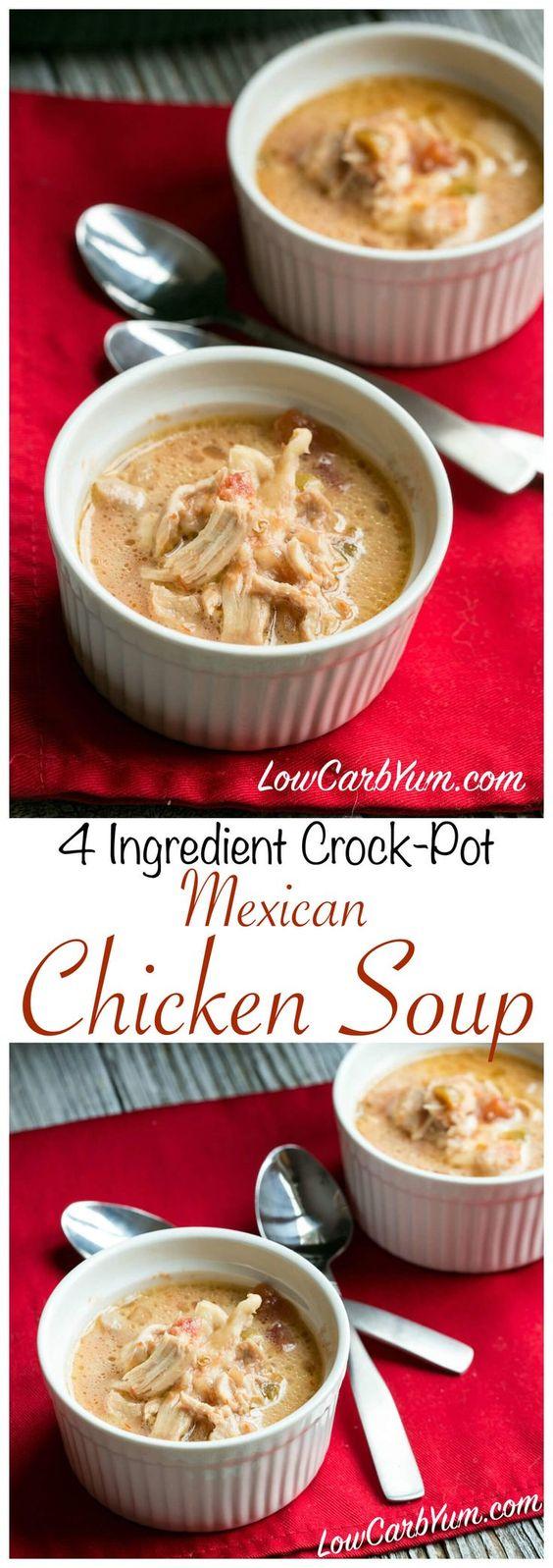 Low Carb Crock Pot Chicken Soup