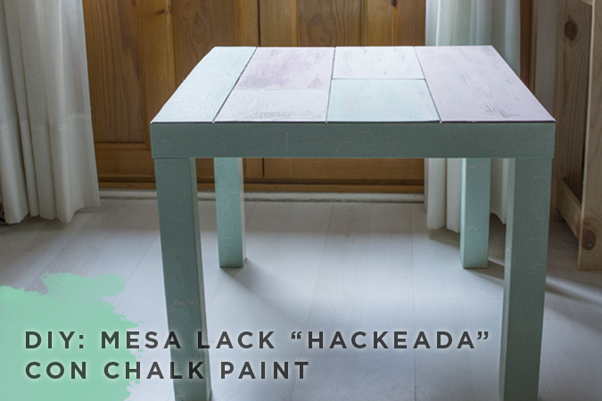 Milowcostblog diy mesa lack con chalk paint - Mesa tv ikea lack ...