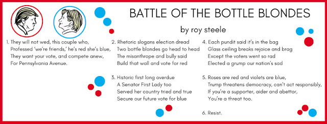 Visual representation of BATTLE OF THE BOTTLE BLONDES by roy steele optimized for Facebook.