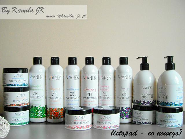 Polskie kosmetyki naturalne Vianek polish organic cosmetics peeling do ciała żel pod prysznic do higieny intymnej