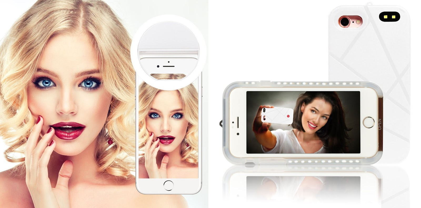 Selfie Ring Light and Light Up Luminous Selfie Cell Phone Cover