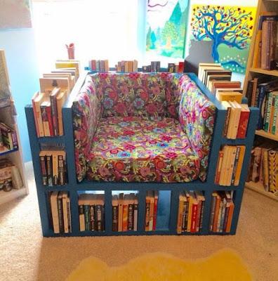 sillón de libros