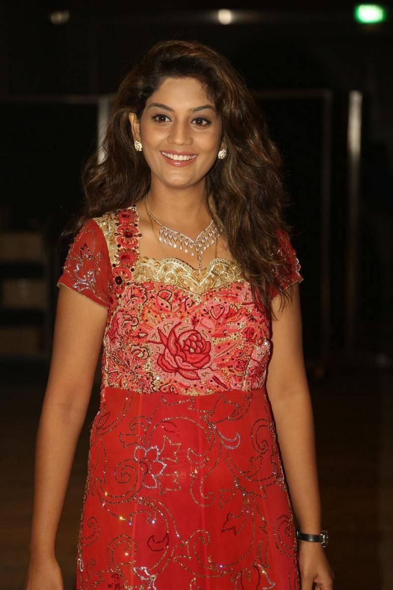 Karuna Latest Photos In Red Dress