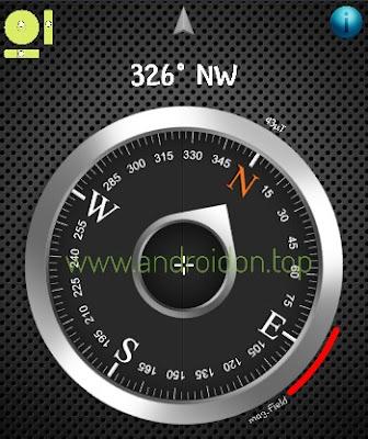 aplikasi Kompas di smartphone android yang membutuhkan sensor magnetik