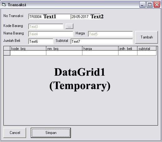 Cara Memindahkan Data Dari Satu Tabel Ke Tabel Lainnya Dengan Visual Basic 6.0