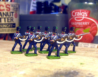 DK 8: Der Kriegspielers French Line Infantry 1812, Charging, painted as chasseurs