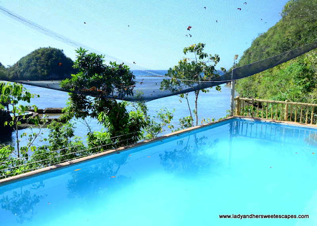 swimming pool in Tinagong Dagat's main island