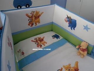 protector de cuna winnie the pooh