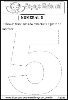 Numeral 5 pontilhado