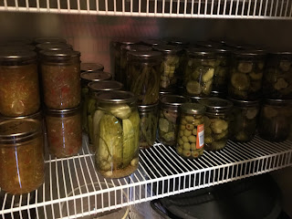 Jars of home canned pickles from zero waste vegan pantry https://trimazing.com
