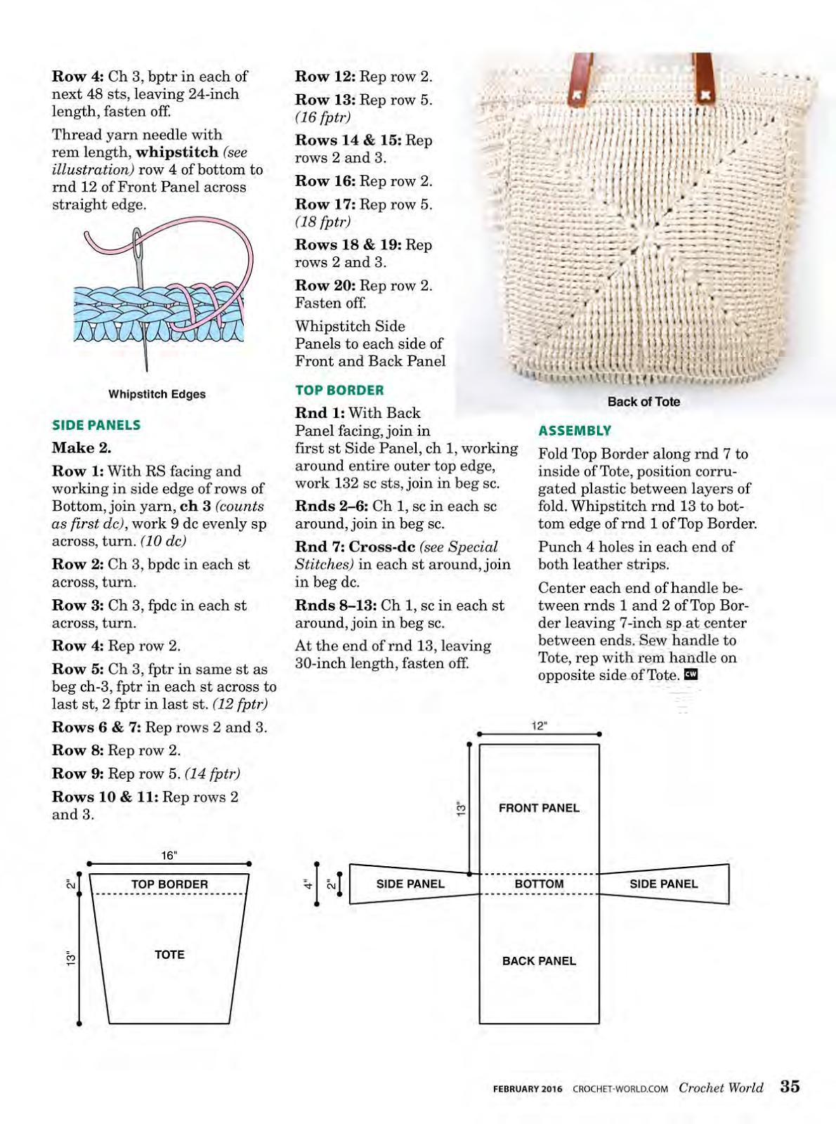Bolsa Cables Trenzados a Crochet, PDF (CREATIVE CABLES BRAIDED ...