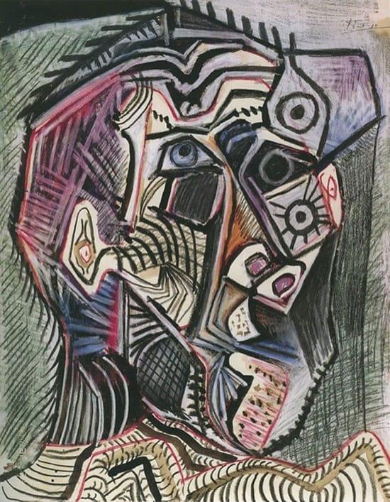 Autorretrato de Picasso en 1972, con 90 años (28 de junio)