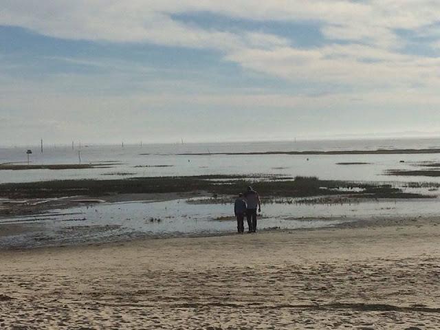 foto de la playa de Arès en la Bahía de Arcachón | caravaneros.com
