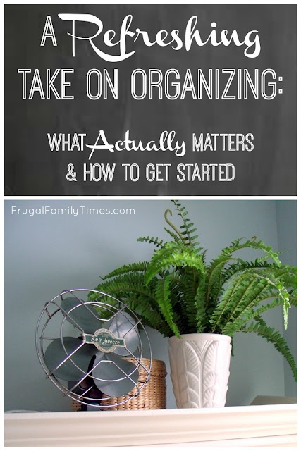 "A refreshing perspective on organizing. Why organising actually matters for your family. How to get started. Great perspective if you're feeling overwhelmed. We organized our bathroom ""linen closet"" and saved time and money.  It does not have to be picture perfect!"