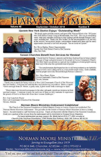 Harvest Times, Volume 40 Number 5, September-October 2018