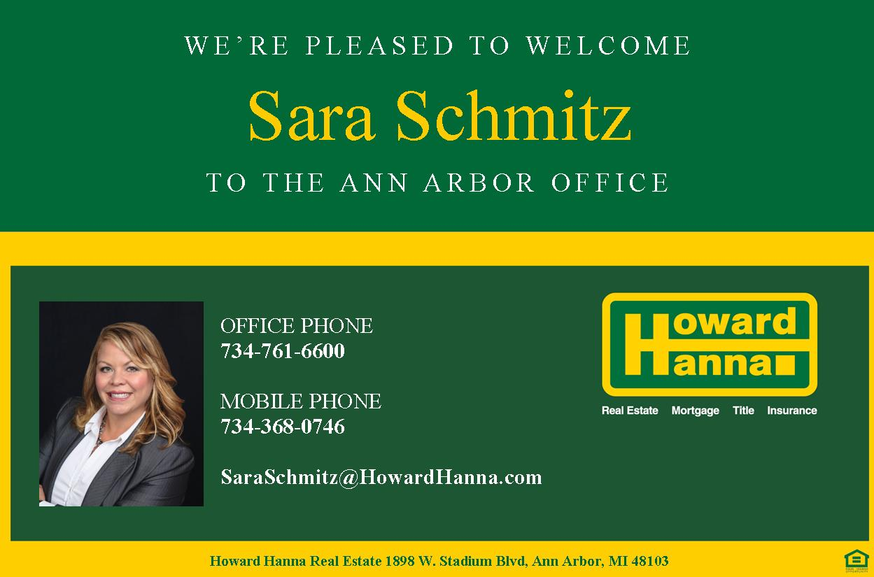 Michigan Real Estate Jobs and Careers: SARA SCHMITZ JOINS OUR ANN ...