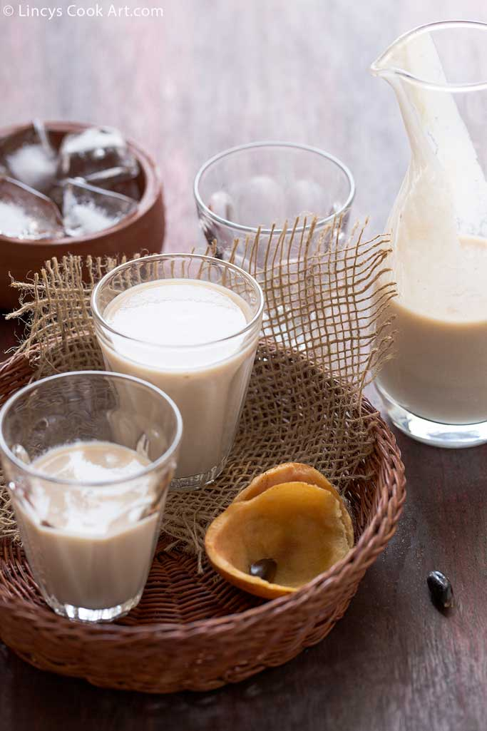 how to make chikoo milkshake recipe